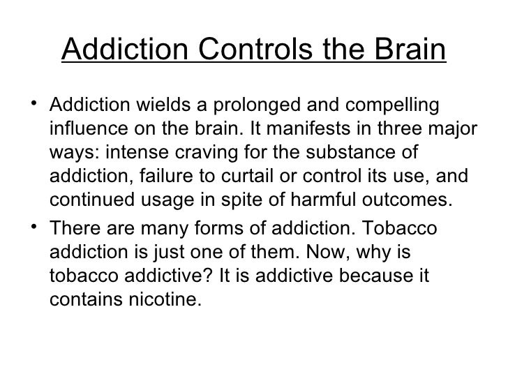 nicotine addiction Monamine oxidase constituents of cigarette smoke other than nicotine contribute to nicotine addiction monoamine oxidases, enzymes located in catecholaminergic and other neurons, catalyze the metabolism of dopamine, norepinephrine, and serotonin.