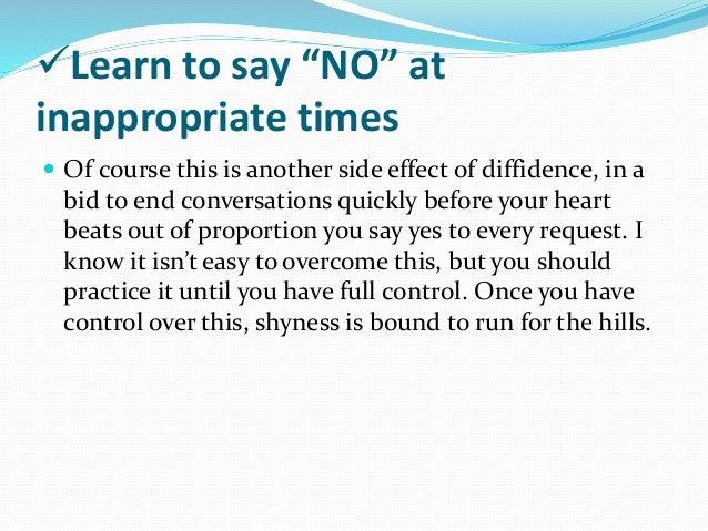 How do you overcome shyness