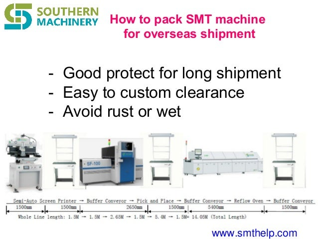 www.smthelp.com How to pack SMT machine for overseas shipment - Good protect for long shipment - Easy to custom clearance ...