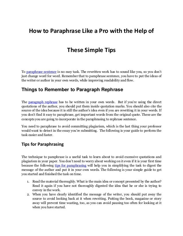 rewrite paragraph to avoid plagiarism