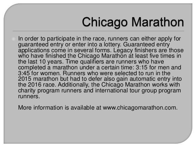 How to Participate in the Chicago Marathon Slide 3