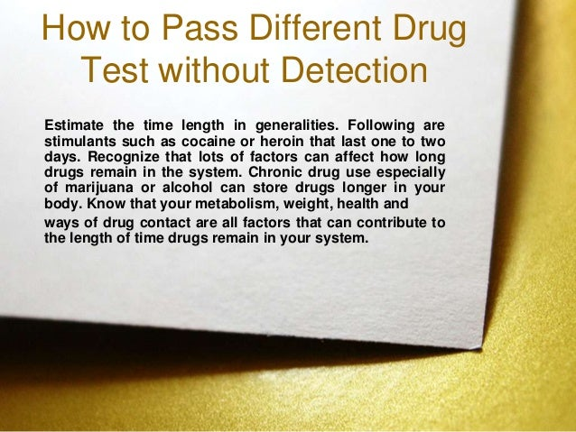 how to pass seaworld drug test