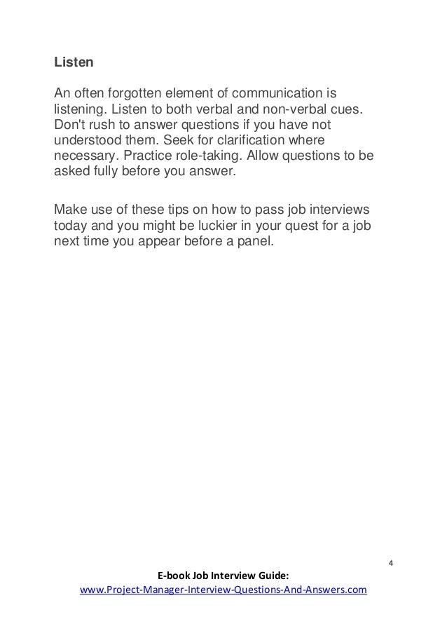 4 4 e book job interview - How To Pass A Job Interview
