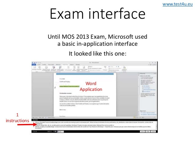 how to pass mos word 2013