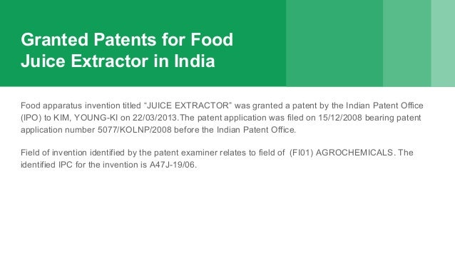 Patenting food ideas patent a food recipe writing a non provision 3 granted patents for food forumfinder Gallery