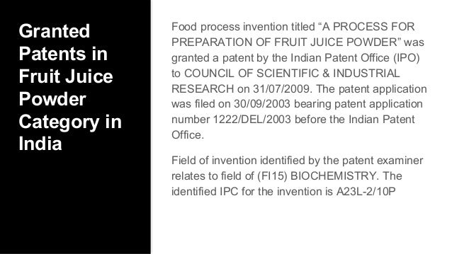 Patenting food ideas patent a food recipe writing a non provision 32 granted patents forumfinder Gallery