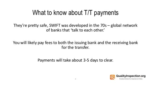 How to pay Chinese suppliers by T/T payment Slide 3