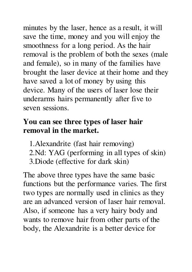 How to perform laser hair removal on your underarms Slide 3