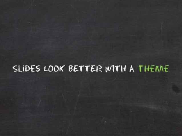 How to Pick a Killer Theme For Your Presentation Slide 2