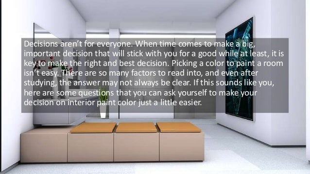 How to pick an interior paint color for How to pick interior paint colors