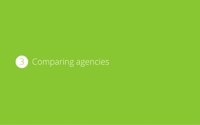 3 Comparing agencies