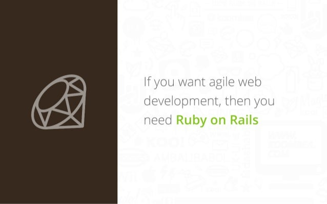 If you want agile web development, then you need Ruby on Rails