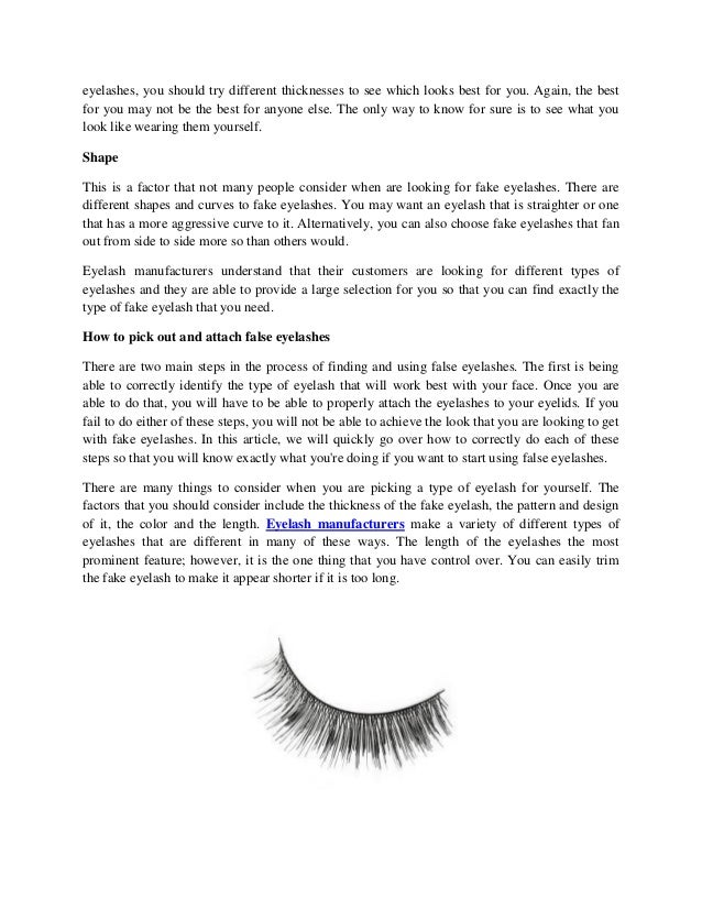 How To Pick The Right False Eyelashes For You