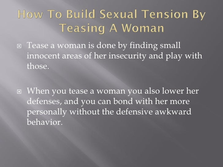 How To Build Up Sexual Tension