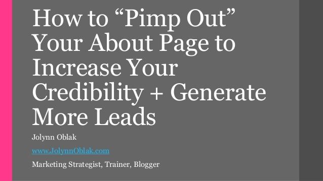 How to craft a lead generating about me page that also