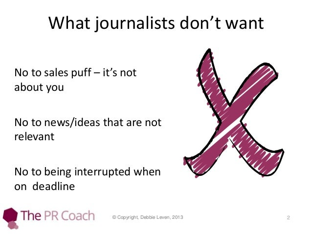 How to pitch a journalist Slide 2
