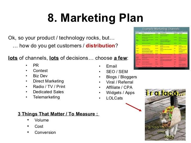 8  marketing plan pr contest