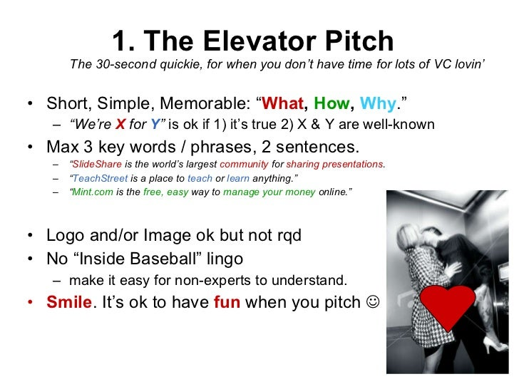 1 The Elevator Pitch The