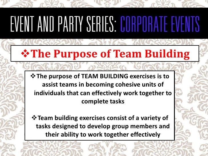 How to plan a corporate team building event stopboris Gallery