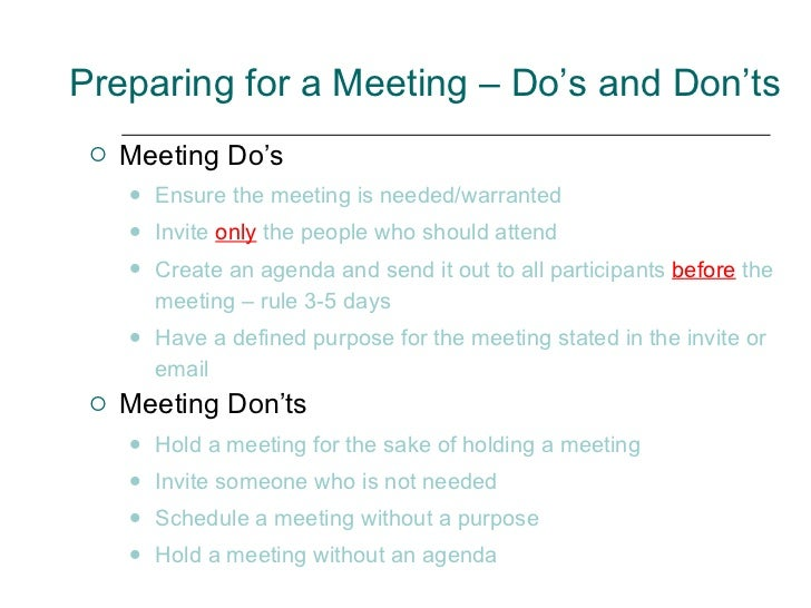 How To Plan And Lead A Meeting For Maximum Results – Preparing Meeting Agenda
