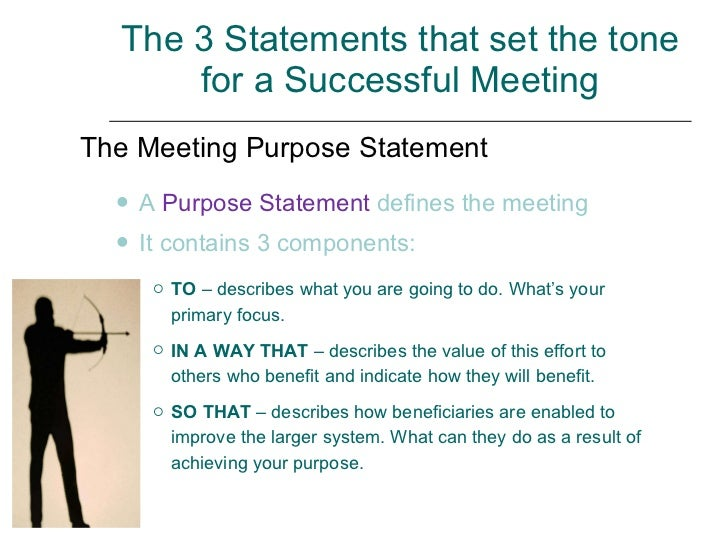meeting purpose statement examples