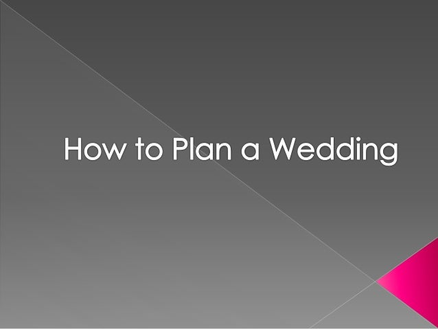 how to plan a wedding at home