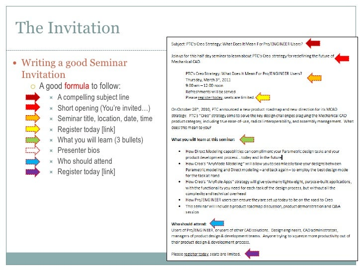 How to plan execute a seminar writing a good seminar invitationbr stopboris Image collections