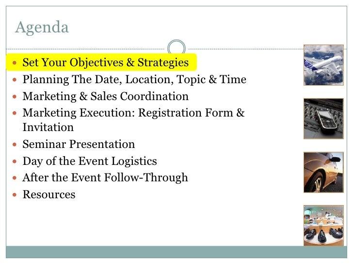 How to Plan & Execute a Seminar