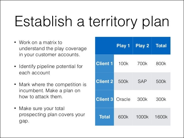 new sales territory business plan