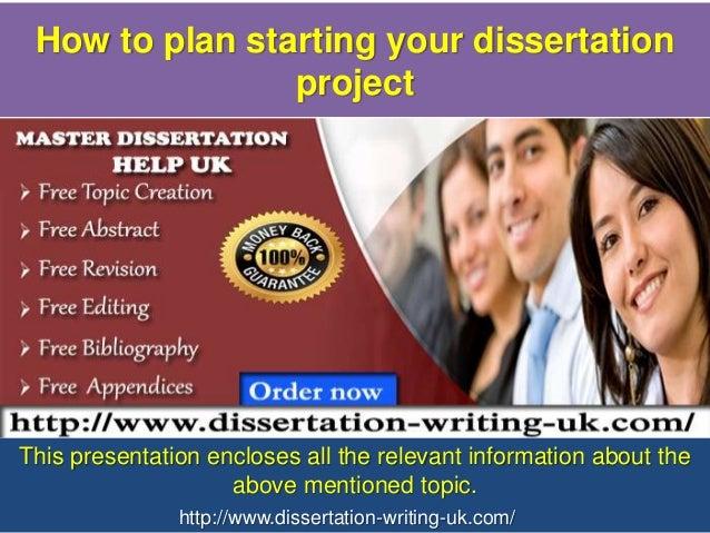 Dissertation project plan