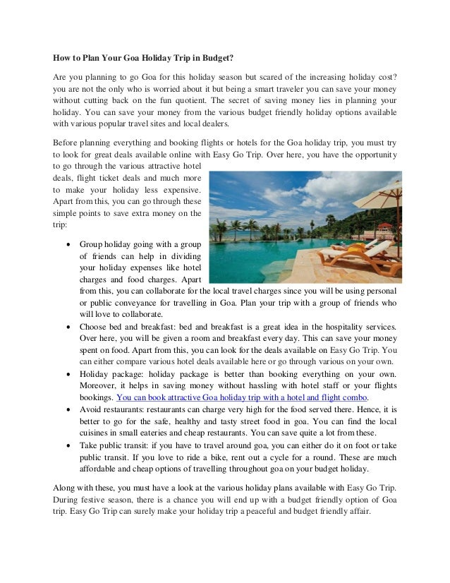 How to plan your goa holiday trip in budget – Site That Plans Trip For You