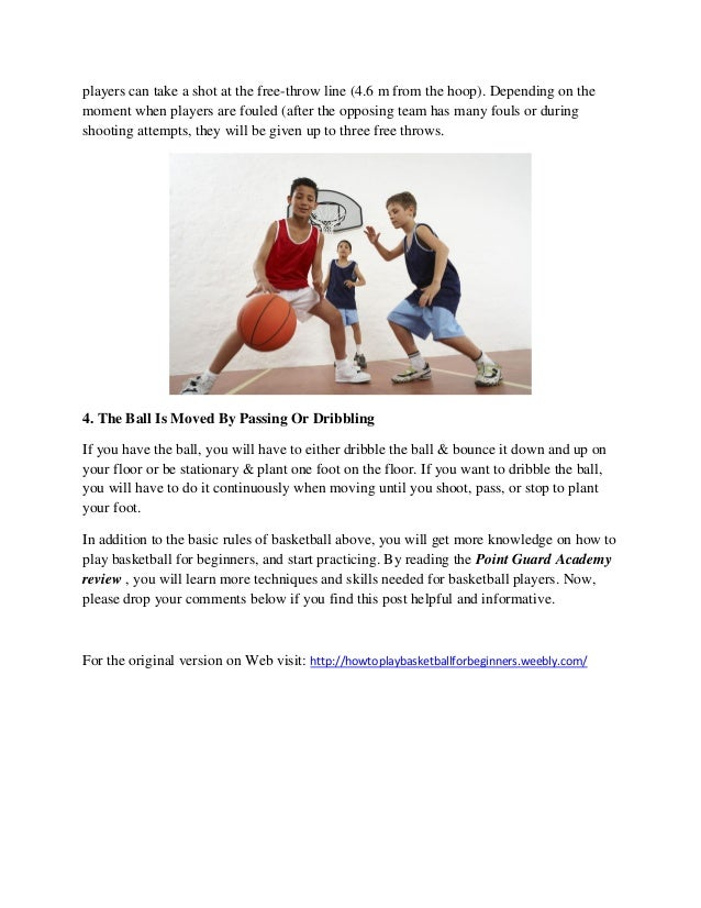 Learn How To Play Basketball For Beginners With Simple Tips