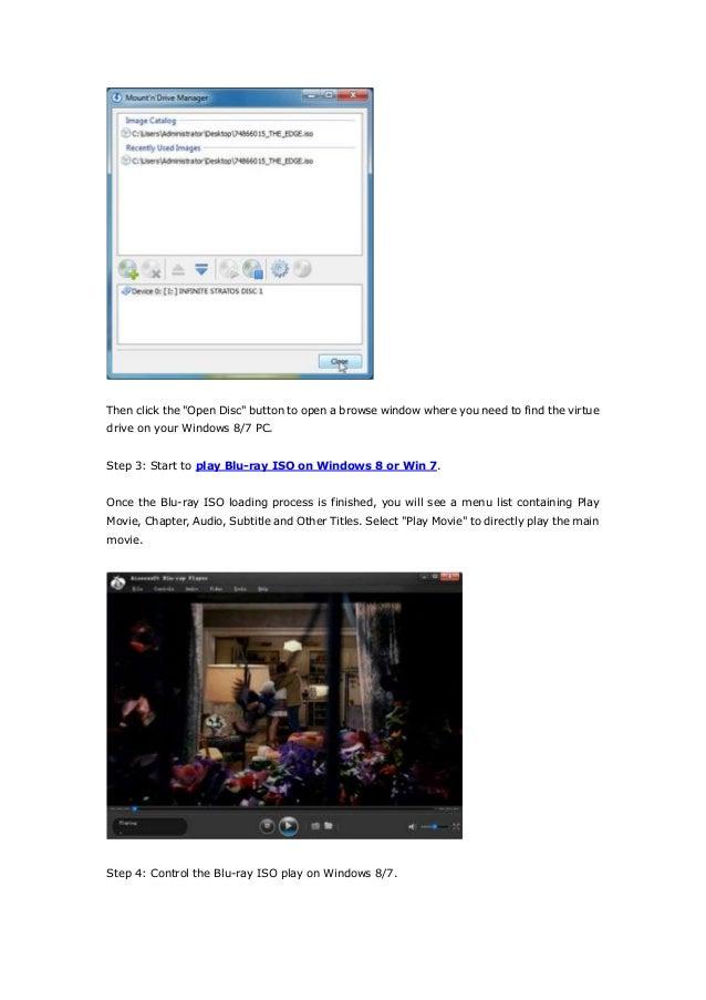 How to play blu ray iso image files on windows 8,windows 7