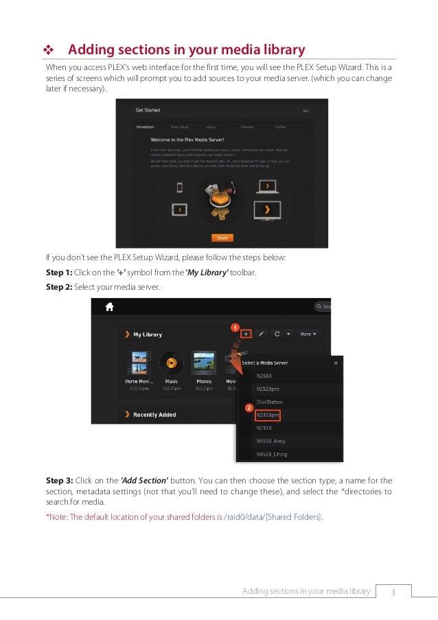 NAS App Operating Instructions Manual(PLex Media Server)