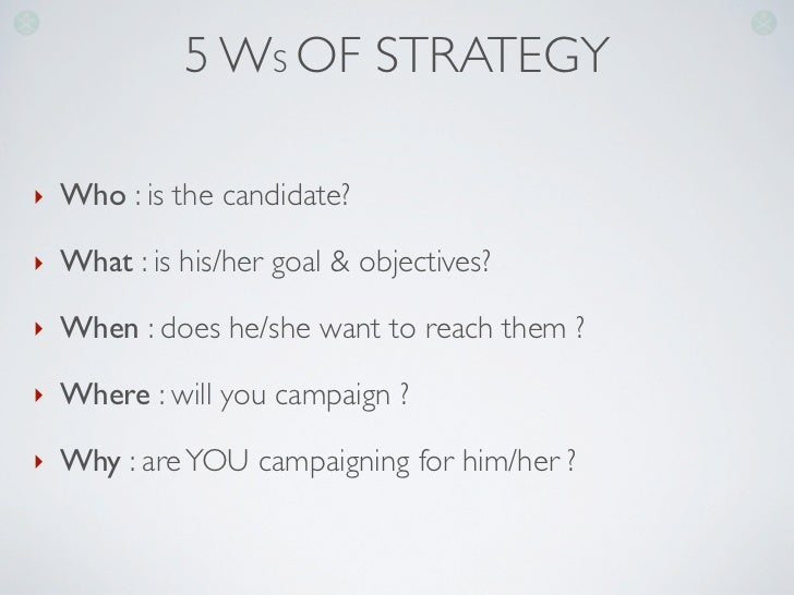 How to organise a political campaign