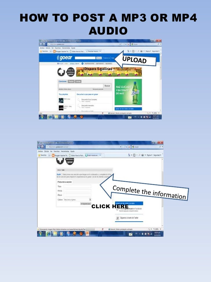 HOW TO POST A MP3 OR MP4         AUDIO         CLICK HERE