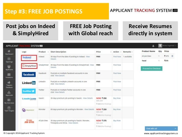 how to post jobs through applicant tracking system