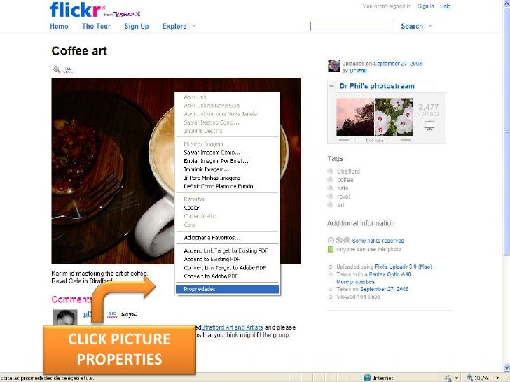 CLICK PICTURE PROPERTIES<br />