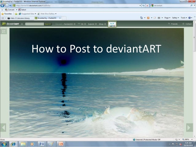 How to Post to deviantART
