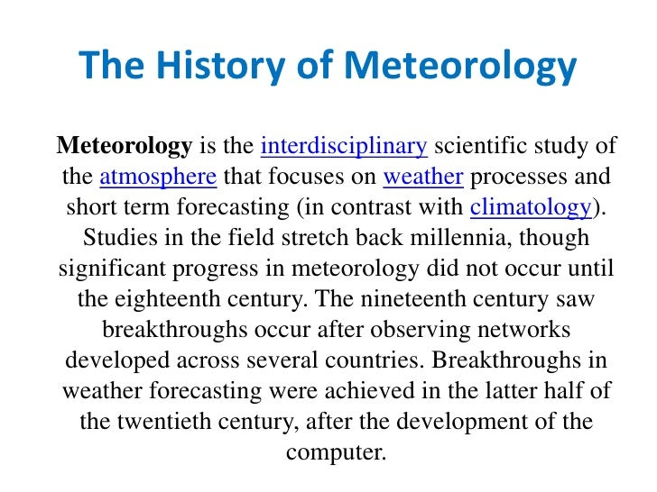 How To Predict The Weather<br />Becoming Your Own Weather Forecaster<br />Becoming your own weather forecaster is the end ...