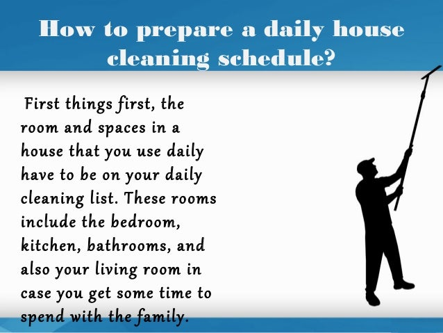 daily house cleaning