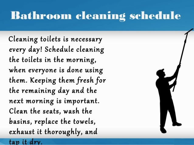bathroom cleaning schedulecleaning