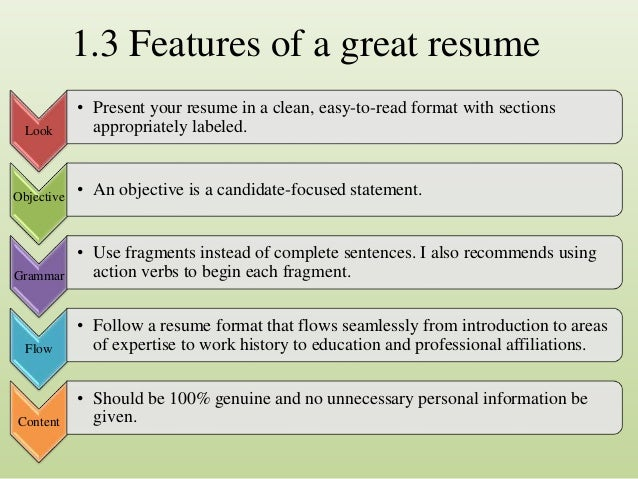 non traditional resume 7 13 features of a great