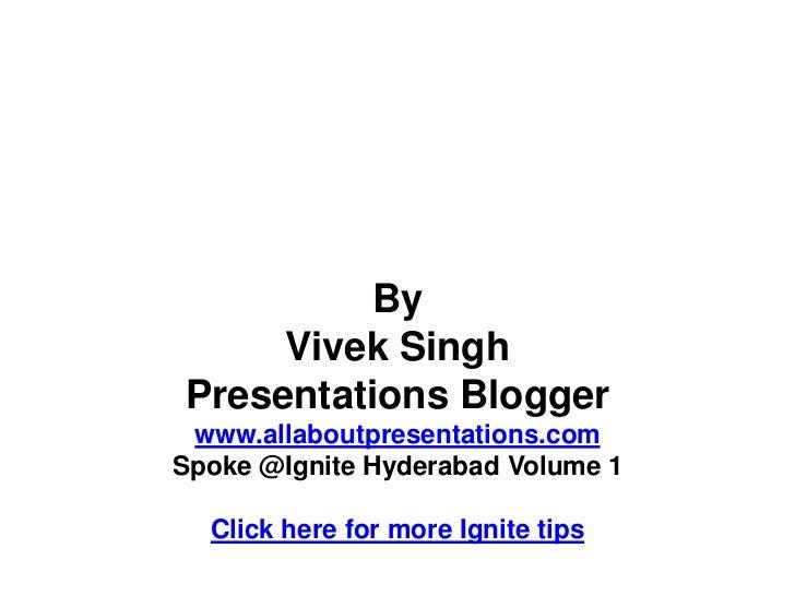 How to prepare an ignite presentation