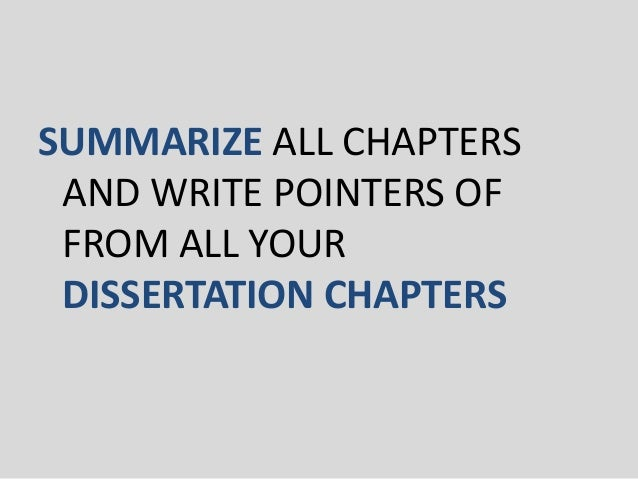 How To Write And Present Your Dissertation/ Thesis