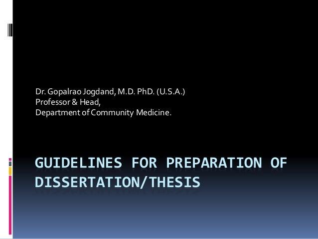dissertation proposal preparation
