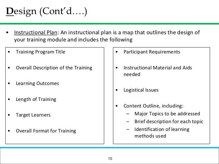 training module example