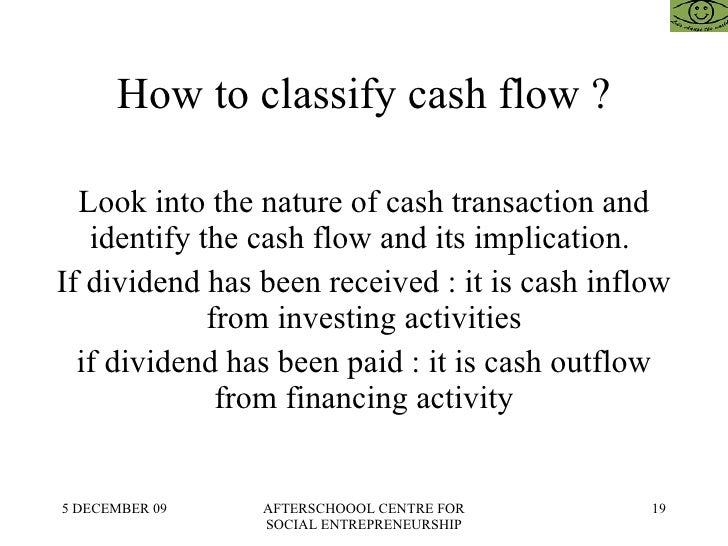 how to write a cash flow statement