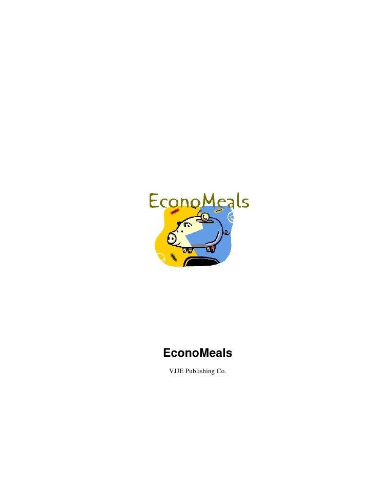 EconoMealsVJJE Publishing Co.