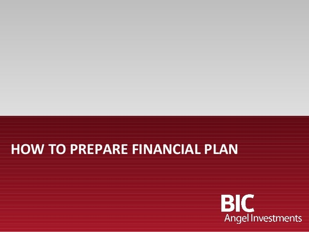 HOW TO PREPARE FINANCIAL PLAN